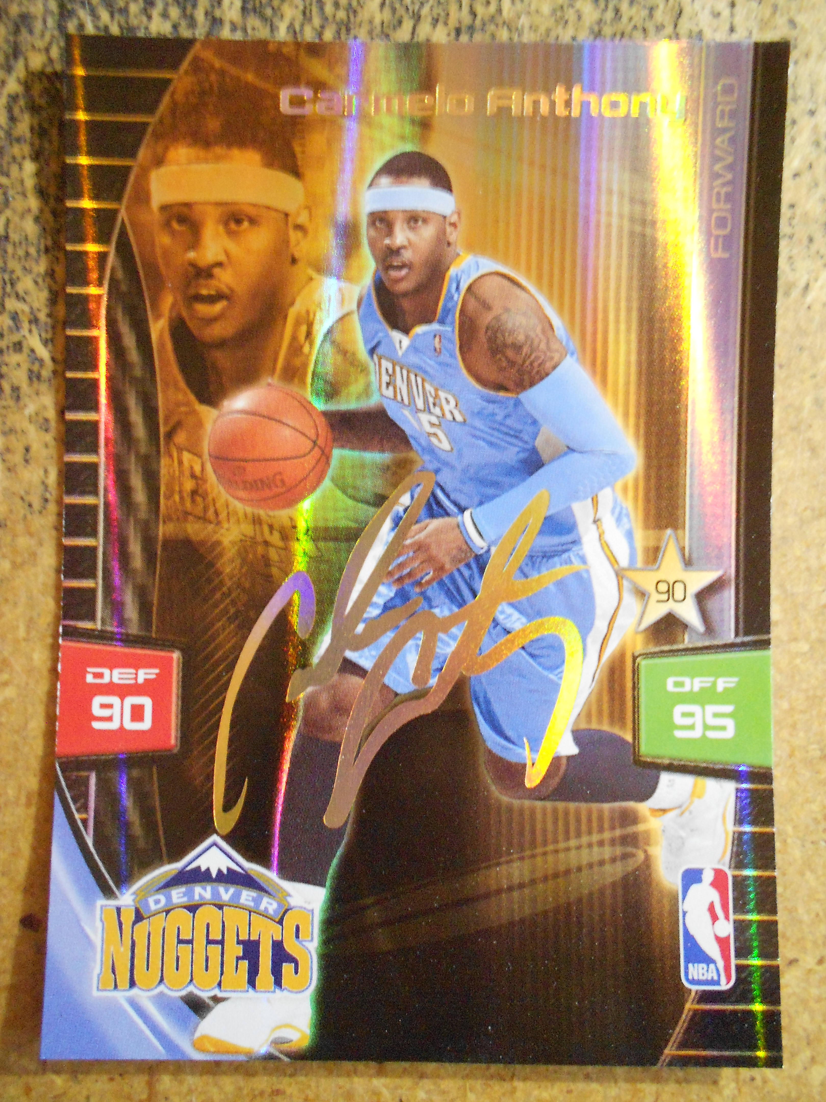 2009-10 Adrenalyn XL Extra Signature #1 Carmelo Anthony
