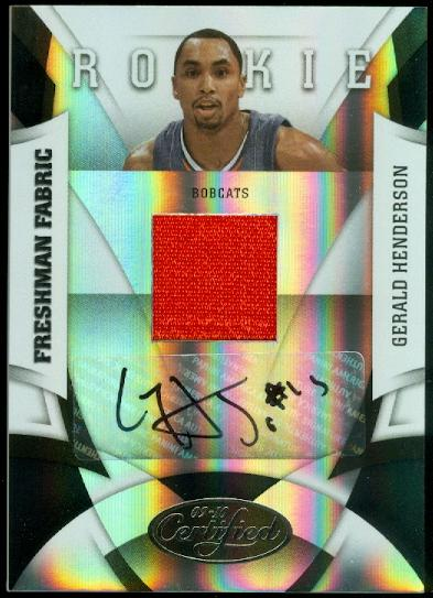 2009-10 Certified #180 Gerald Henderson JSY AU RC