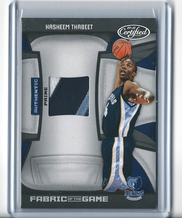 2009-10 Certified Fabric of the Game Prime #172 Hasheem Thabeet/25