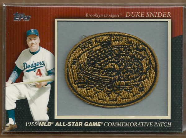 2010 Topps Commemorative Patch #MCP14 Duke Snider