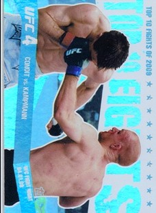 2010 Topps UFC Main Event Top 10 Fights of 2009 #12 Condit/Kampmann