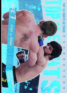 2010 Topps UFC Main Event Top 10 Fights of 2009 #19 Stout/Wiman