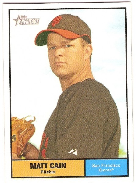 2010 Topps Heritage #72 Matt Cain