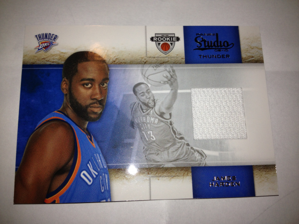 2009-10 Studio Materials #135 James Harden/249