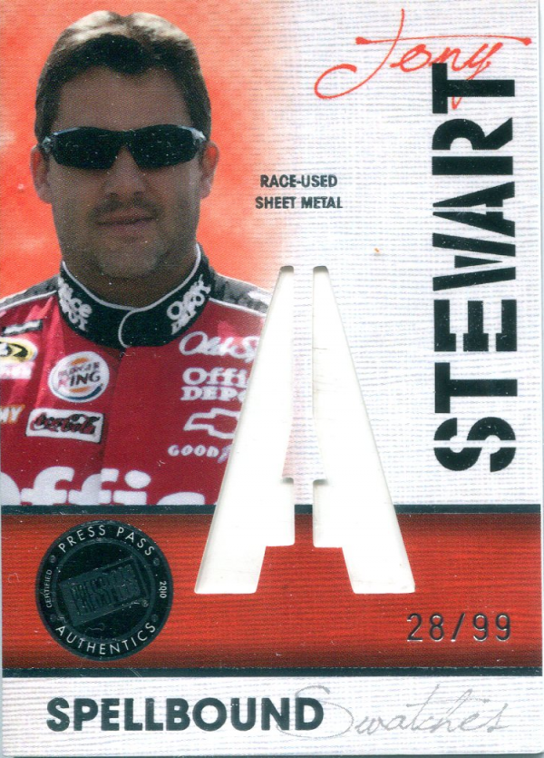 2010 Press Pass Eclipse Spellbound Swatches #SSTS5 Tony Stewart A