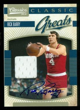 2009-10 Classics Classic Greats Jerseys Signatures #26 Rick Barry/25