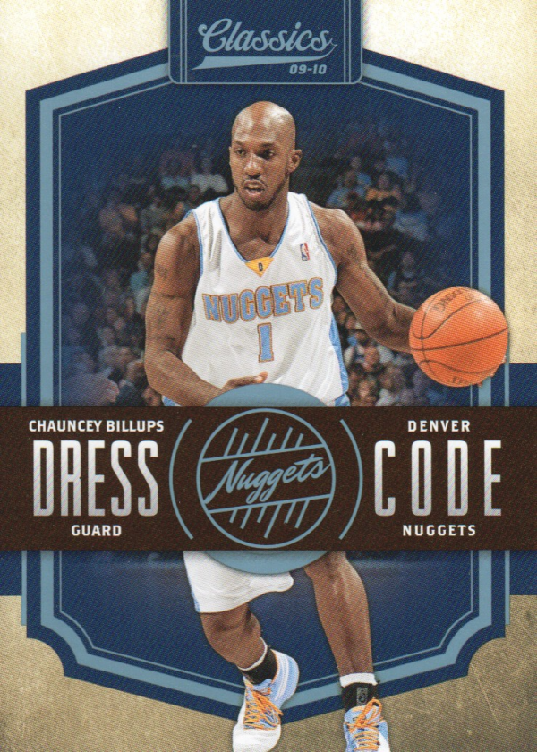 2009-10 Classics Dress Code Platinum #25 Chauncey Billups