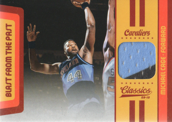 2009-10 Classics Blast From The Past Jerseys #25 Michael Cage/199