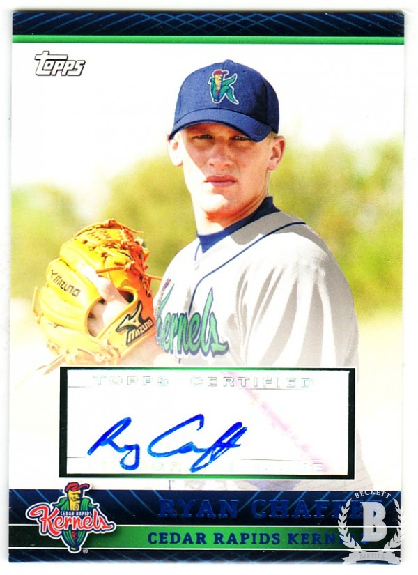 2010 Topps Pro Debut Prospect Autographs Blue #RC Ryan Chaffee