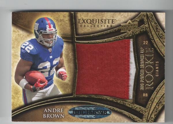 2009 Exquisite Collection Rookie Big Patch Match-Up #BC Andre Brown/Glen Coffee