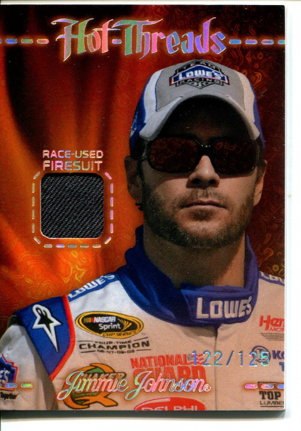 2010 Press Pass Premium Hot Threads Two Color #HTJJ Jimmie Johnson