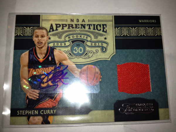 2009-10 Timeless Treasures NBA Apprentice Materials Signatures #6 Stephen Curry