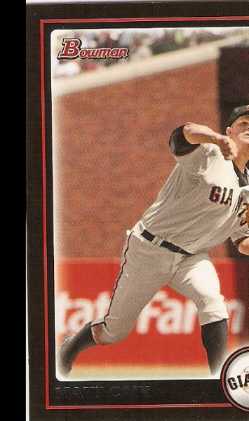 2010 Bowman #28 Matt Cain
