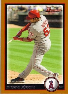 2010 Bowman Orange #59 Bobby Abreu