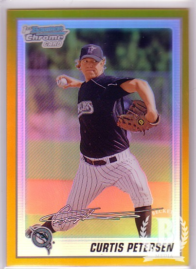 2010 Bowman Chrome Prospects Gold Refractors #BCP78 Curtis Petersen