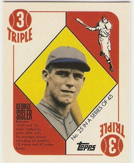2010 Topps Red Back #25 George Sisler