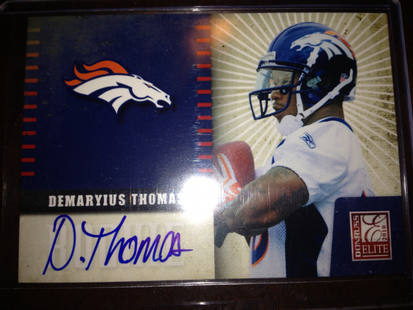 2010 Donruss Elite Rookie NFL Team Logo Autographs #9 Demaryius Thomas