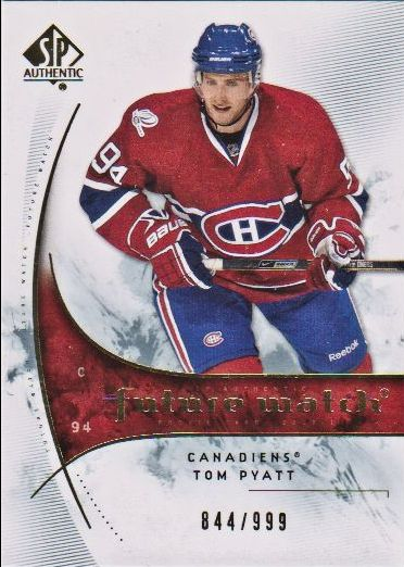 2009-10 SP Authentic #172 Tom Pyatt RC