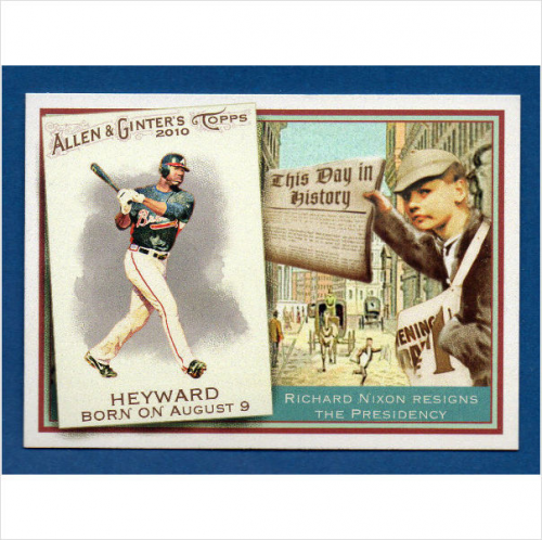 2010 Topps Allen and Ginter This Day in History #TDH7 Jason Heyward