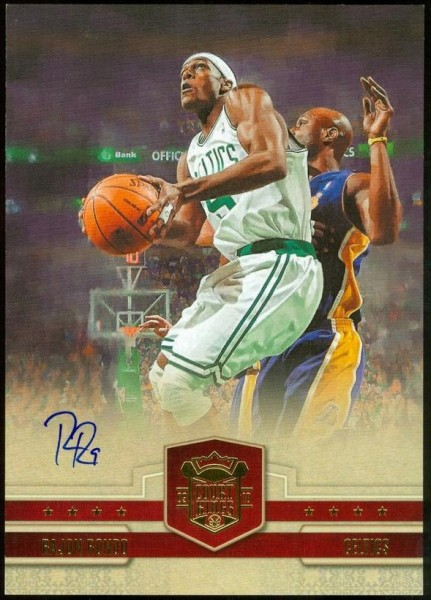 2009-10 Court Kings Jumbo Boxtoppers Autographs #25 Rajon Rondo/75
