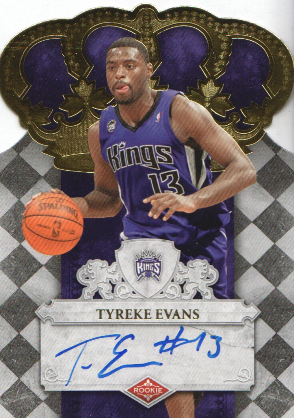 2009-10 Crown Royale #101 Tyreke Evans AU/399 RC