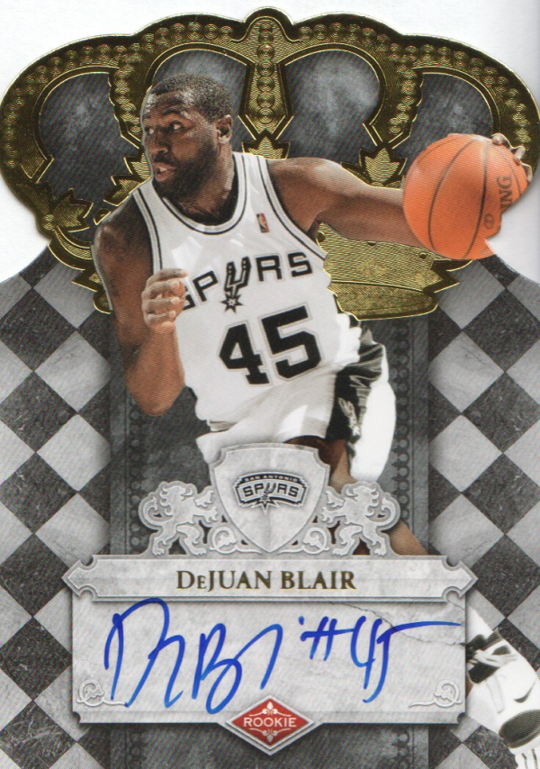 2009-10 Crown Royale #107 DeJuan Blair AU/699 RC