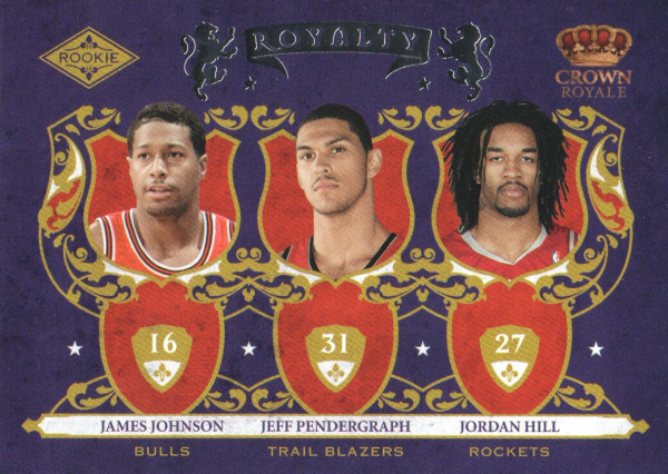 2009-10 Crown Royale Rookie Royalty #10 James Johnson/Jeff Pendergraph/Jordan Hill