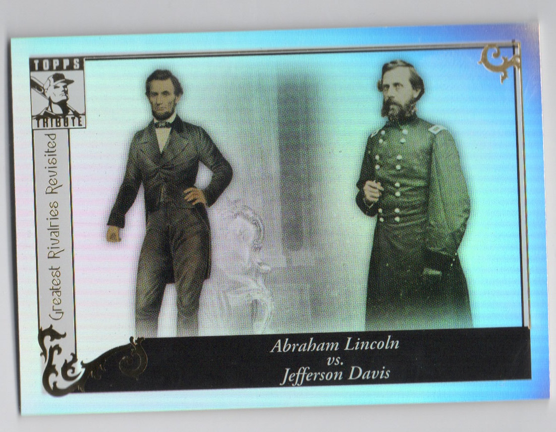 2010 Topps Tribute #97 Abraham Lincoln vs Jefferson Davis