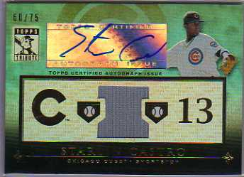 2010 Topps Tribute Autograph Relics Blue #ST1 Starlin Castro