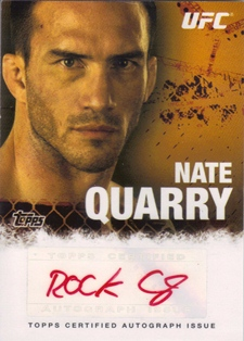 2010 Topps UFC Autographs Red Ink #FANQ Nate Quarry