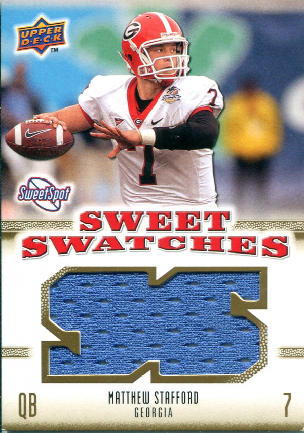 2010 Sweet Spot Sweet Swatches #SSW59 Matthew Stafford