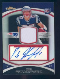 2010 Finest Rookie Patch Autographs Black Refractors #42 Rob Gronkowski