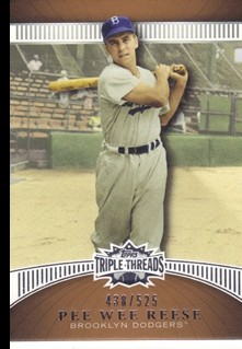 2010 Topps Triple Threads Sepia #66 Pee Wee Reese