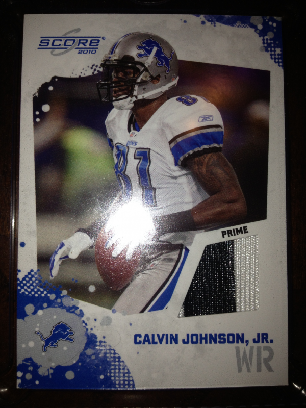 2010 Score Retail Factory Set Jerseys #15 Calvin Johnson