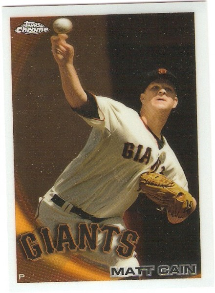 2010 Topps Chrome #118 Matt Cain