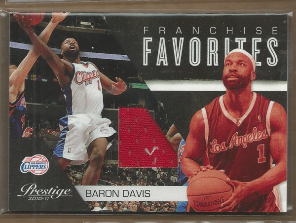 2010-11 Prestige Franchise Favorites Materials #27 Baron Davis/249