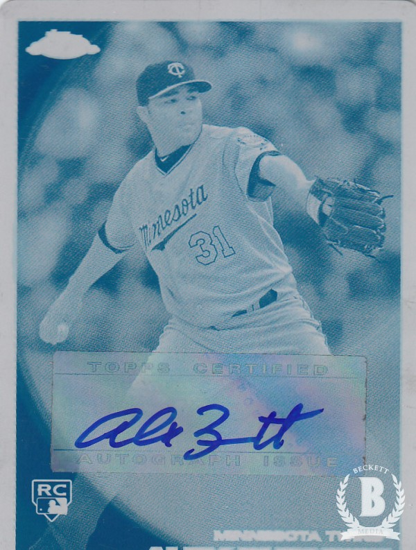 2010 Topps Chrome Rookie Autographs Printing Plates Cyan #188 Alex Burnett