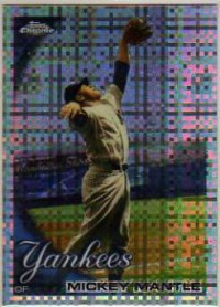 2010 Topps Chrome X-Fractors #7 Mickey Mantle