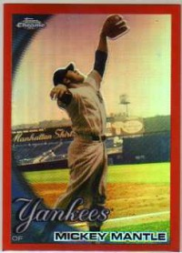 2010 Topps Chrome Orange Refractors #7 Mickey Mantle