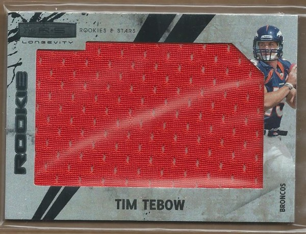 2010 Rookies and Stars Longevity Rookie Jersey Jumbo Swatch #299 Tim Tebow
