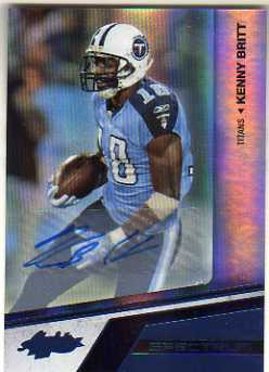 2010 Absolute Memorabilia Spectrum Platinum Autographs #96 Kenny Britt/25