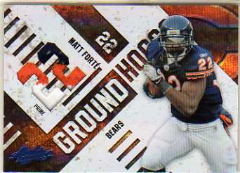 2010 Absolute Memorabilia Ground Hoggs Materials Jersey Number #15 Matt Forte/50
