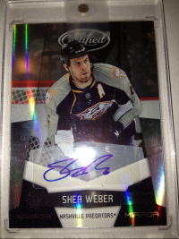 2010-11 Certified Mirror Black Signatures #82 Shea Weber