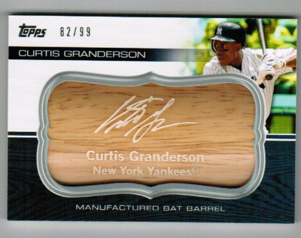 2010 Topps Update Manufactured Bat Barrel #MB105 Curtis Granderson