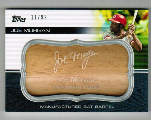 2010 Topps Update Manufactured Bat Barrel #MB142 Joe Morgan
