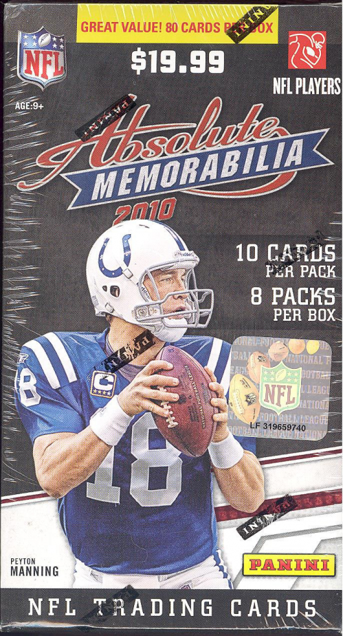 2010 Absolute Memorabilia Retail Football Retail Box