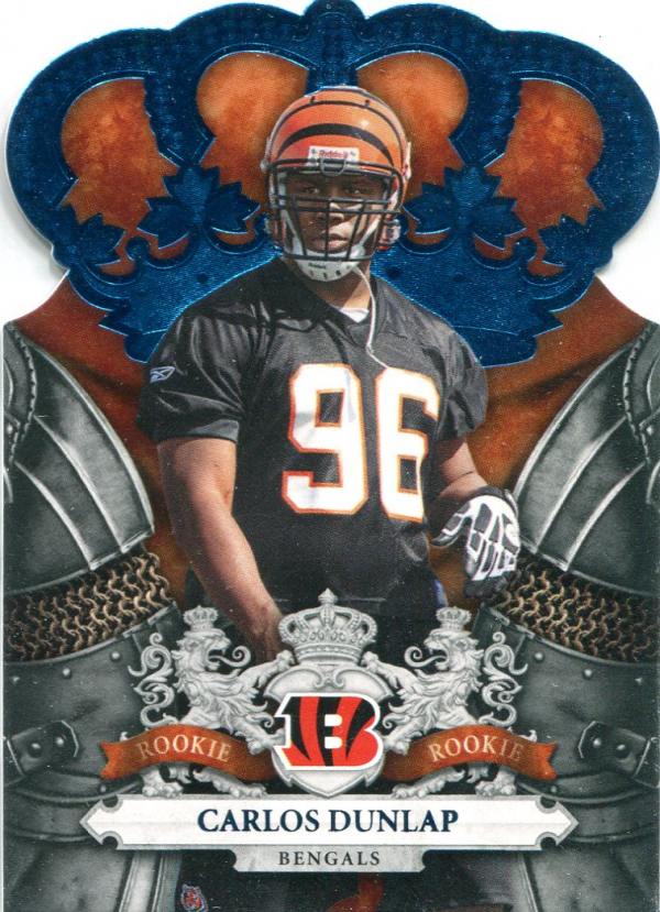 2010 Crown Royale Blue #114 Carlos Dunlap