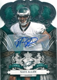 2010 Crown Royale Autographs #174 Nate Allen/99 front image