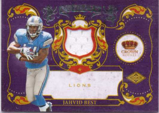 2010 Crown Royale Rookie Royalty Materials #19 Jahvid Best