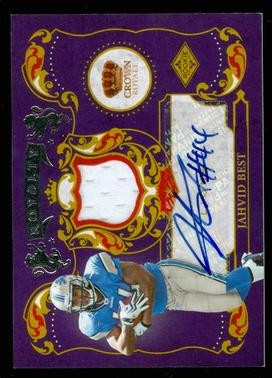 2010 Crown Royale Rookie Royalty Materials Autographs #19 Jahvid Best/50
